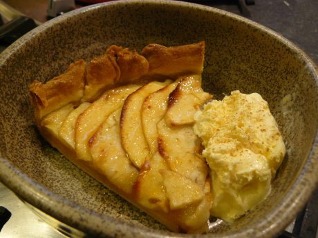 Apple tart ready to eat