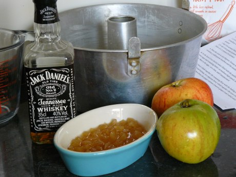 Apple Bourbon Cake ingredients