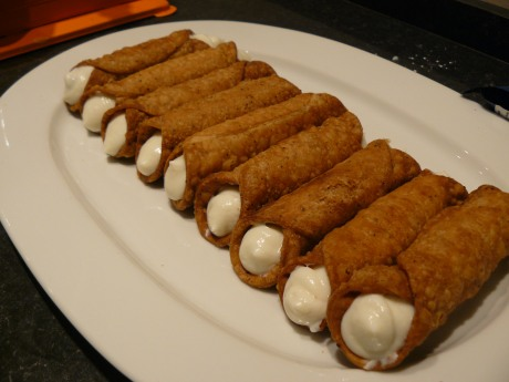 filled cannoli