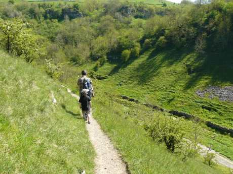 Heading Down Into Lathkill Dale